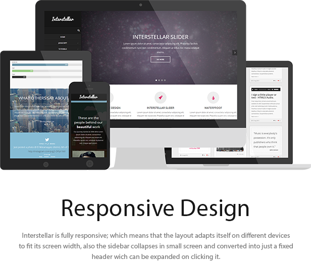 Interstellar - Multi-purpose HTML Template